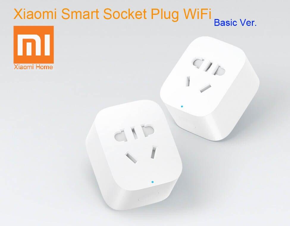 imágenes para En stock original xiaomi inteligente socket plug bacic wifi remoto inalámbrico acepta ee.uu. au de la ue adaptador de enchufe