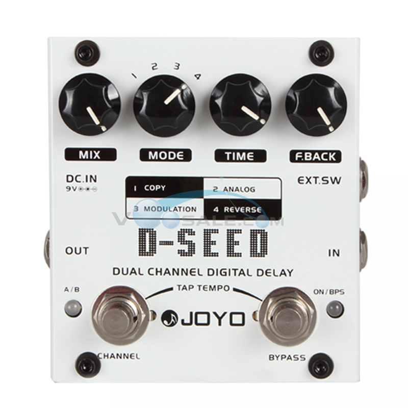 JOYO D-SEED Delay Guitar Effect Pedal Delay Effects Guitarra Stompbox Dual Channel Digital Delay True Bypass Guitar AccessoriesJOYO D-SEED Delay Guitar Effect Pedal Delay Effects Guitarra Stompbox Dual Channel Digital Delay True Bypass Guitar Accessories