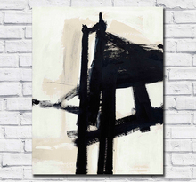 Large Size 100% handmade Oil Painting Franz kline light mechanic Wall Art Canvas  for Living Room and Bedroom No Frames