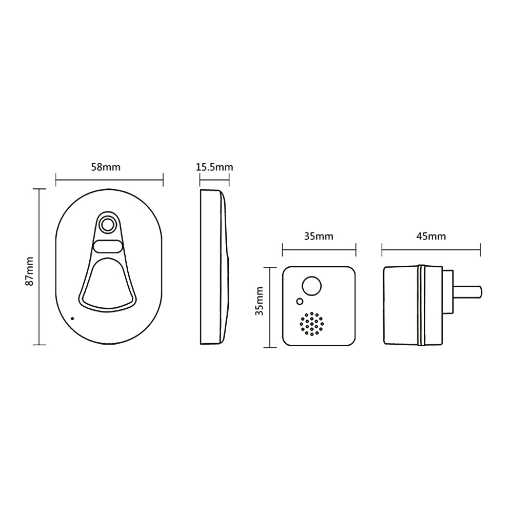 High Definition Camera Mobile Phone Remote Notification Smart Wireless Doorbell Circuit Diagram Take Photo Home Intelligent In Doorbells From