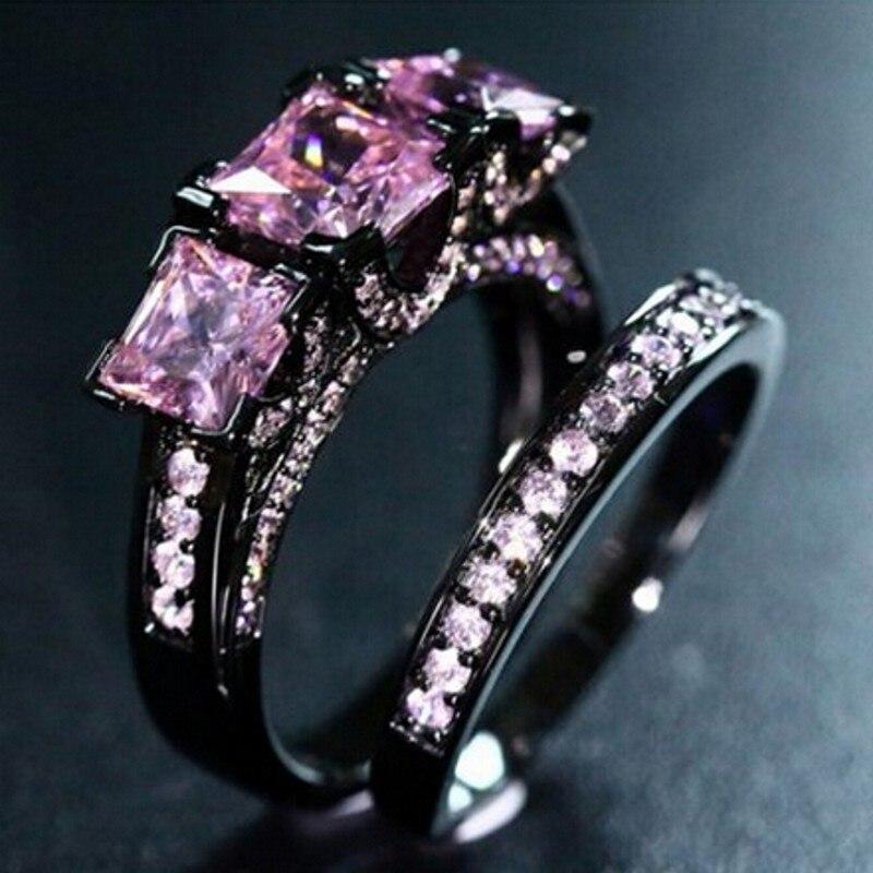 Online Get Cheap Pink Wedding Ring Sets Aliexpresscom Alibaba