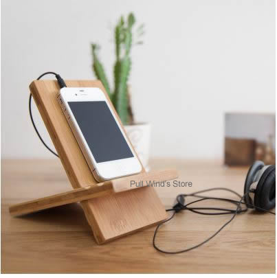 Buy simple wooden phone holder cool wood for Porta phon ikea