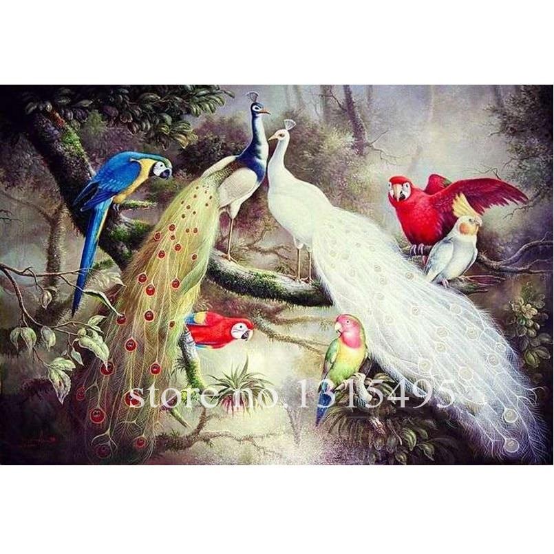 5700 Koleksi Gambar Burung Merak Lukisan Gratis Terbaru