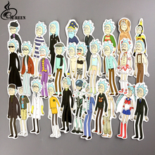 NEW 30pcs/lot funny cosplay Rick and Morty Stickers for car skateboard motorcycle laptop notebook waterproof cartoon decals gift