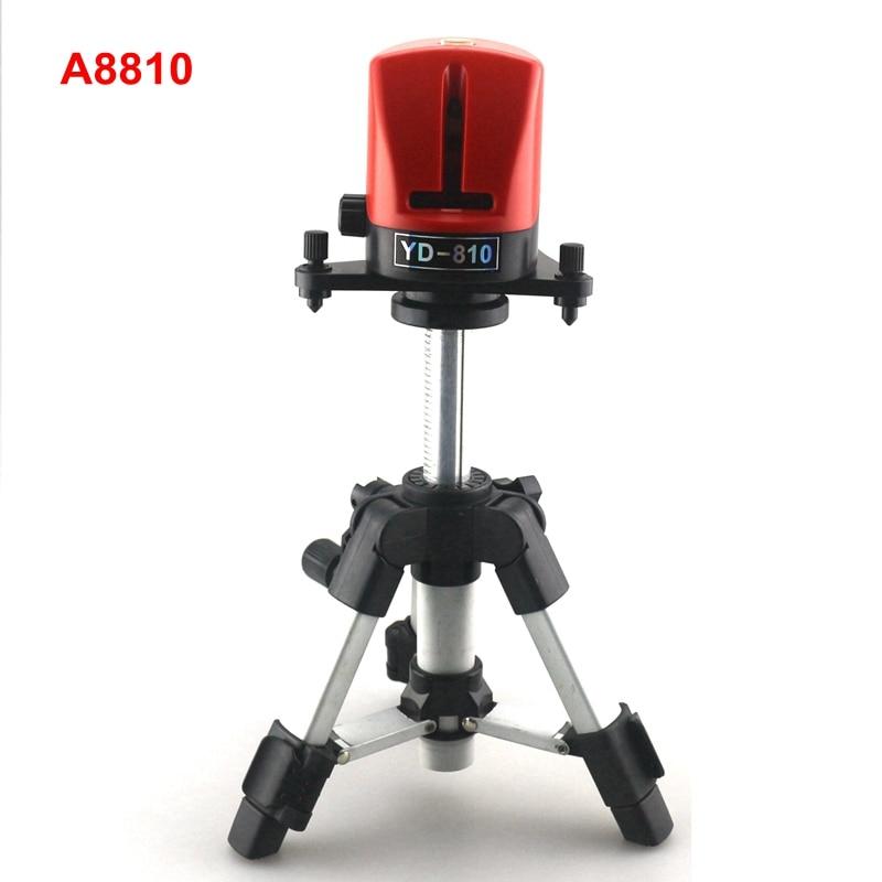 ACUANGLE A8810 niveau Laser 360 auto-nivelant 2 outils de nivellement Laser de ligne rouge avec Instruments de mesure sur trépied AT280