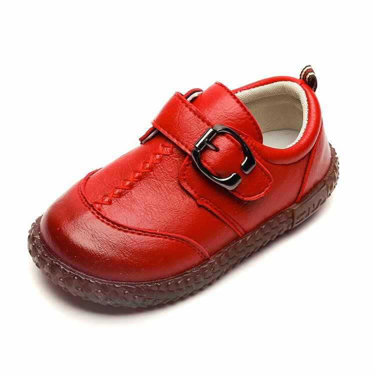 4a14f426fb77 ... Kids Toddler Baby Little Boys Flats Brown Black Red England Leather  Shoes For Boys School Shoes ...