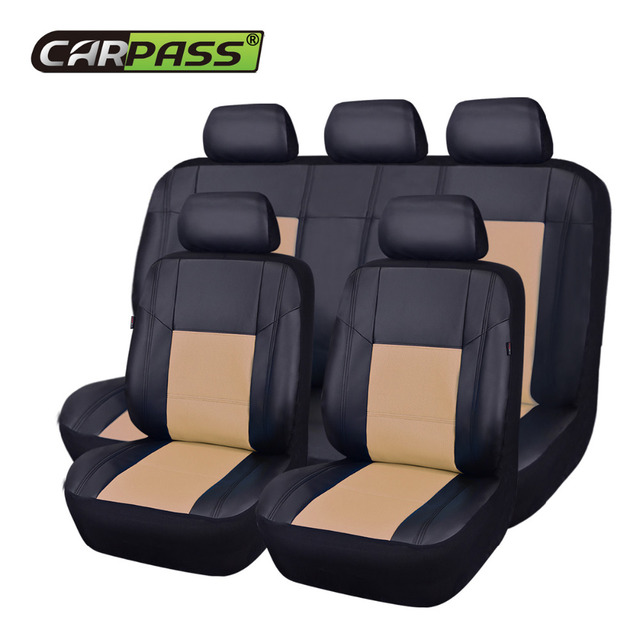 Car Pass Leather Universal Seat Covers 9 Color Cover PU Auto Interior