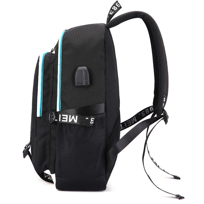 ac66358c56 Marshmello Face Alone DJ Backpack With USB Charging Port And Lock ...