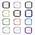Nueva moda fitbit reloj resplandor de acero inoxidable marco protecter 12 blaze colorfitbit protecter rose gold silver marco de smart watch