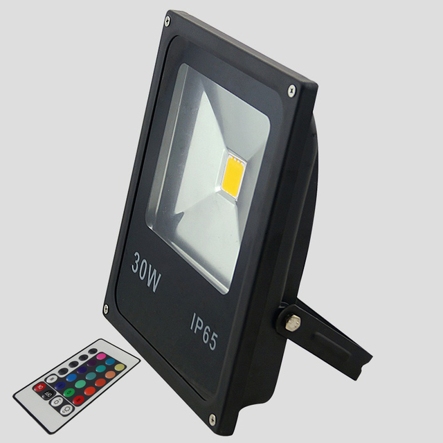 30w rgb changeable led outdoor flood light remote controller 30w rgb changeable led outdoor flood light remote controller floodlight outdoor landscape light for diy flood aloadofball Image collections