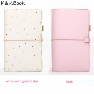 Image 3 - K&KBOOK Kawaii Leather Notebook A6 Travelers Notebook Diary Portable Journal Dotted Notebook Planner Agenda Organizer Caderno