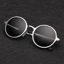 2017 brand designer Aluminum magnesium Polarized sunglasses men Driving mirror Retro Round glasses male luxury sunglasses uv400