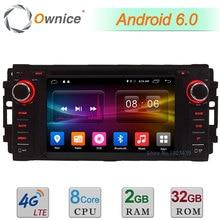 4G 2 GB RAM 32 GB ROM Android 6.0 Octa Core DAB BT DVD del coche Reproductor de Radio Para Jeep Cherokee Comandante Brújula Wrangler Chrysler 300C