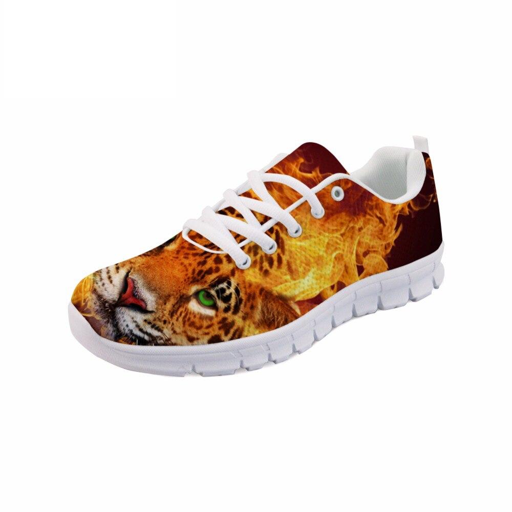 NOISYDESIGNS Cool feu tigre Animal 3D impression appartements hommes chaussures printemps léger chaussures confortables pour hommes baskets plates hommes