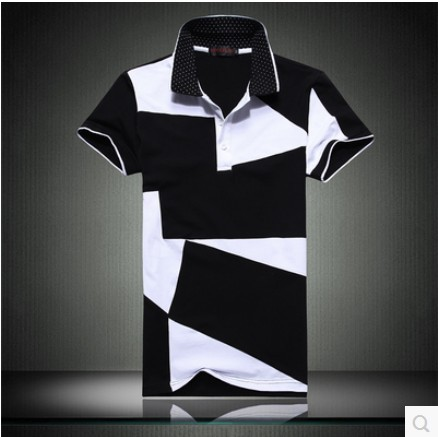 M-6XL contrast color brand   Polo   short sleeve shirt men   POLO   shirts   polo's   casual style sportswear for men shirts
