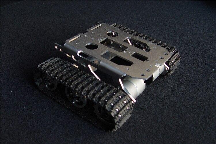 ФОТО Tank chassis intelligent car crawler chassis crawler vehicle tank vehicle tank robot metal motor