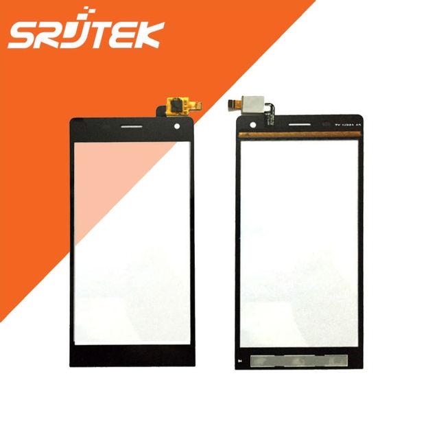 5.0 ''de Alta Qualidade Digitador Da Tela de Toque Sensor de Peças de Reposição Do Painel de Vidro Frontal Para Highscreen Beira Preto