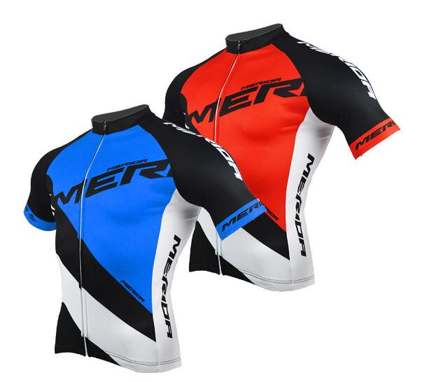 01ab8a5fd 2018 Merida Cycling Jersey Men s Reflective Bike Cycle Jersey Shirts Top  Blue   Red Summer maillot