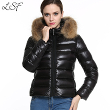 2017 New Arrival Winter Jacket Women Thick Warm Down Parka Coat Casual Fur Collar Hooded Slim Black Winter Outerwear T0601