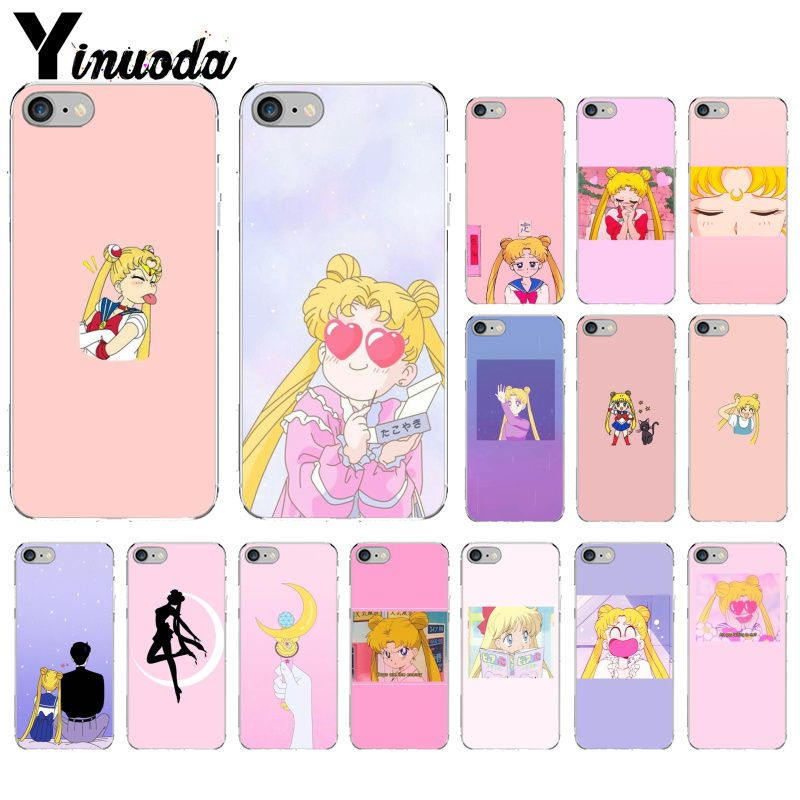 Half-wrapped Case Phone Bags & Cases Yinuoda Girl Pink Series Super Cute Sailor Moon Mobile Shell High Quality Phone Case For Iphone X 5 5s 7 7plus 8 8plus 6s 6plus
