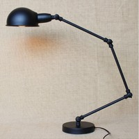 Черный Регулируемый Винтаж Настольные лампы для Спальня лампе деко стол настольные лампы, Abajur Luminaria Меса лампада да tavolo
