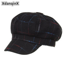 XdanqinX Adult Womens Hat Simple Fashion Newsboy Caps Spring Autumn New Style 2019 Felt Woolen Mixed Warm For Women