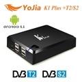 [Genuine] KI PLUS + T2 S2 64-bit S905 Amlogic Quad core Android TV Suporte CAIXA de DVB-T2 DVB-S2 1G/8G 1080 p 4 K Ccamd Newcamd K1 Mais