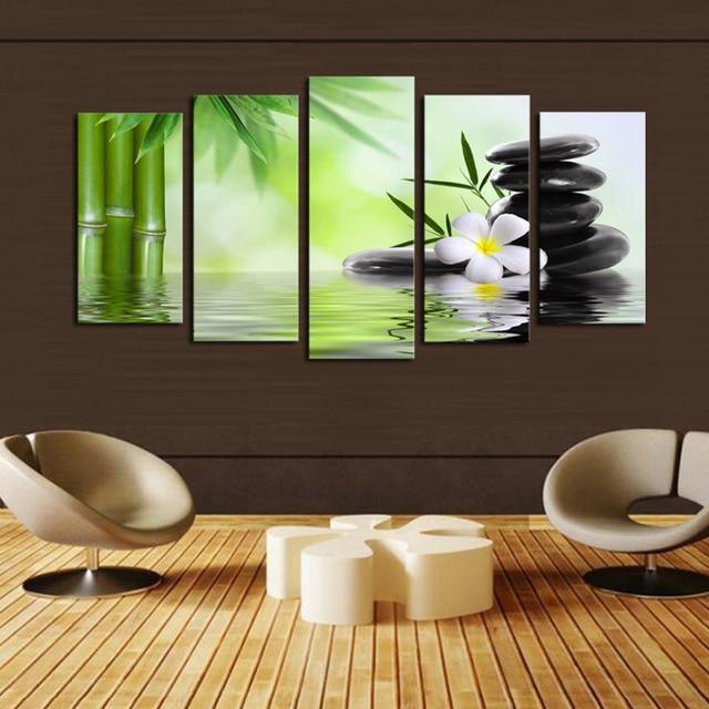 paneles de tela de bamb de impresin y pinturas rupestres en lona wall art imagen