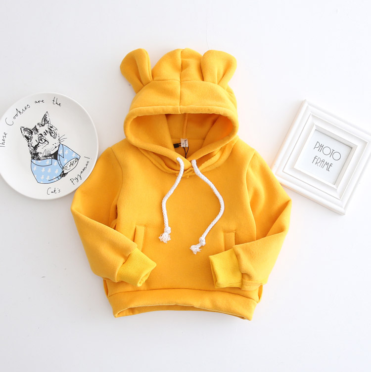 HTB18.A5XMvGK1Jjy0Fcq6xXmVXa3 - 1-5Yrs Children Hooded Sweatshirt Boys Cute Bear Ears Animal Hoodies Unisex Kids Clothing Girls Tops Coats Baby Casual Outwear