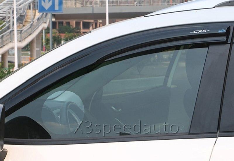 Acrylic Mugen Style Window Vent Visor/Rain Sun Guard For 2013-16 Mazda CX5 CX-5