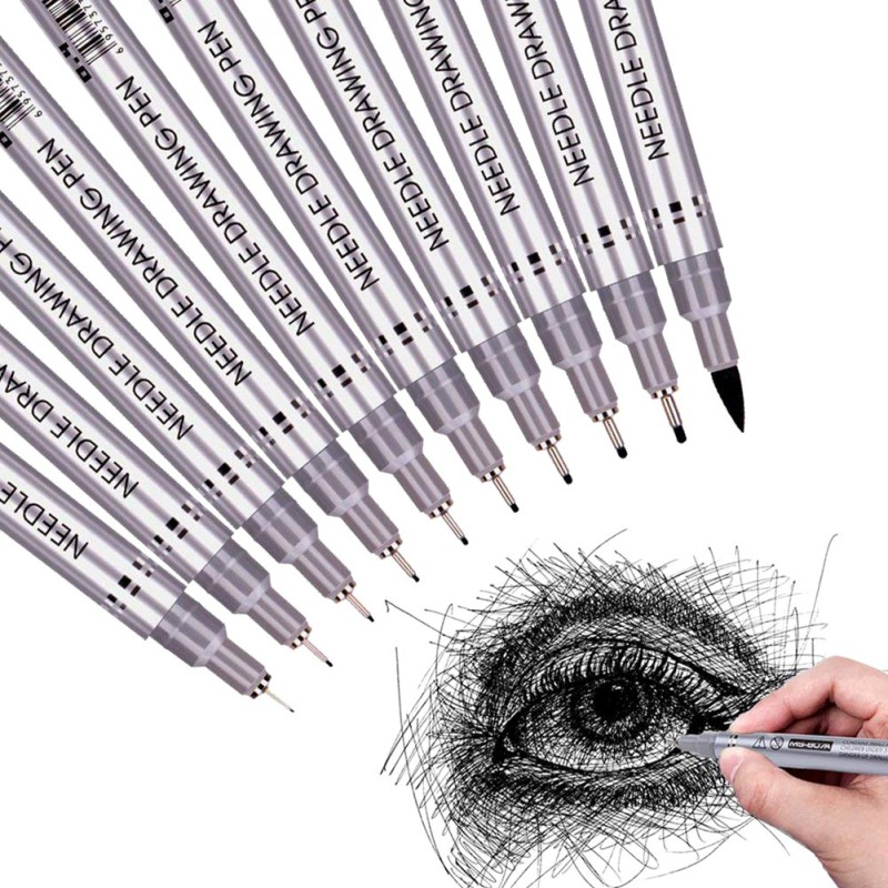 Black Pigment Ink Micro Pens Waterproof Drawing Pen For Artist Sketching  Illustration Comic Manga Writing Assorted Tips New