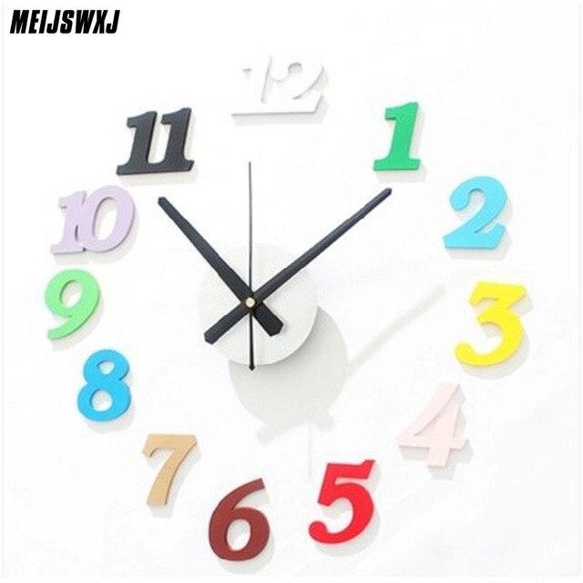 Saat Wall Clock Duvar Saati Reloj De Pared Digital Wall Clock Mute Colorful Watch Modern Design Relogio De Parede Horloge Murale