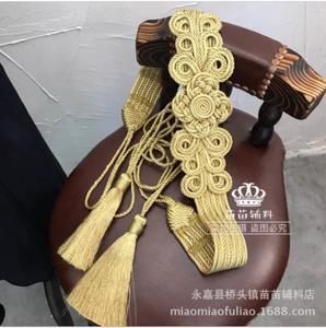 Кружевная лента ручной работы, Золотистое украшение на плечи, 1 шт. = 1 ярд