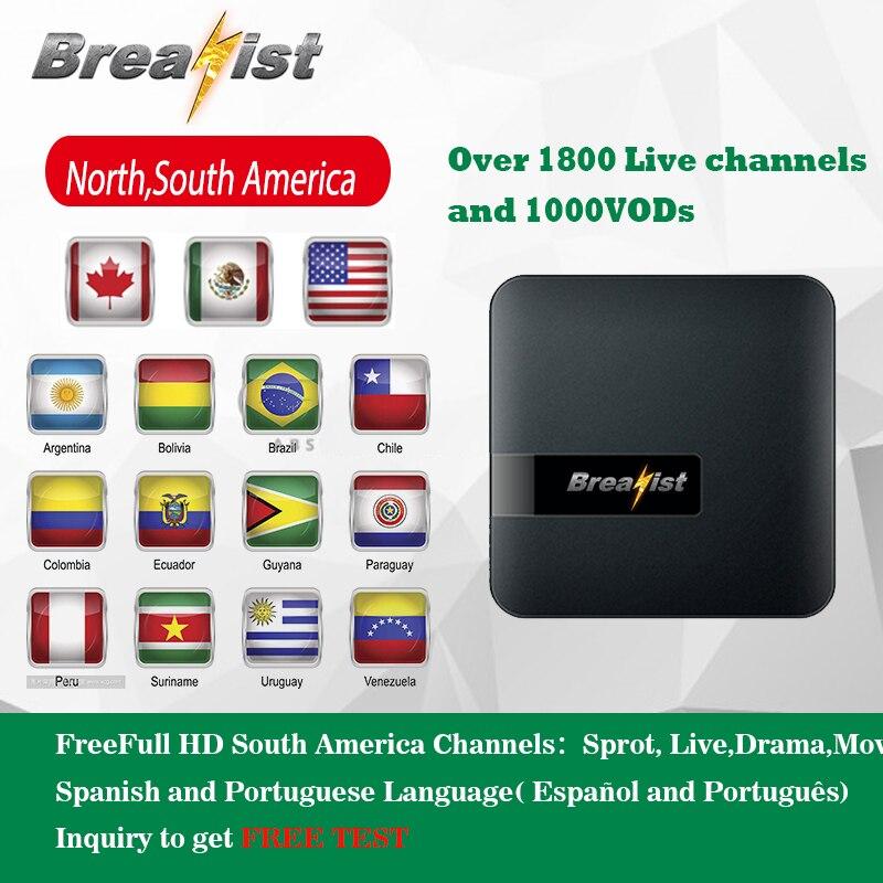 Breakist iptv Chile iptv tv box brasilien iptv abonnement tv box iptv Spanien Argentinien Comlombia Mexiko Portugiesisch USA und Latin