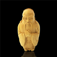 Chinese Confucius statues for decoration Home Decoration china doll accessories handmade wooden gift