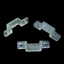 50 шт./упак. светодиодный крепежный силиконовый монтажный зажим пряжки зажимы для 220 V 5050 2835 водонепроницаемая светодиодная лента