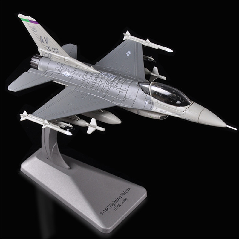<font><b>1:100</b></font> F16 <font><b>Aircraft</b></font> <font><b>Model</b></font> Alloy Fighter Simulation Military <font><b>Model</b></font> Ornaments F16 Fighter <font><b>Model</b></font> Precious Gifts Free Shiping image
