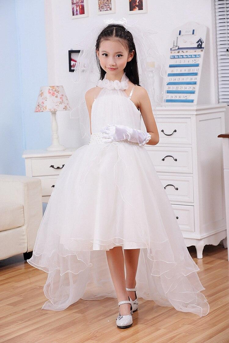 0036eec1b New Girls Wedding Party Princess Dress Lolita Style Bow Solid Flower ...