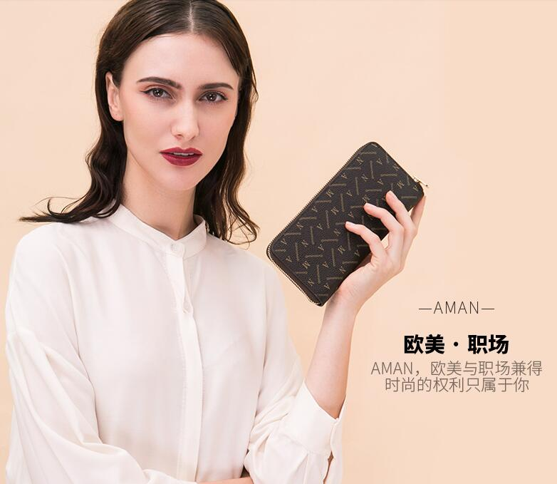 New Famous Brand Designer Luxury Long Walet Women ZIPPY Wallets ...