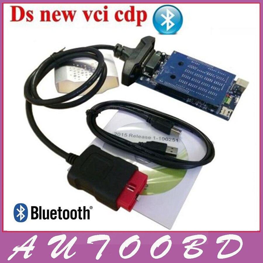Prix pour Nouveau 2015 R3/2014. R3 Noir Nouveau VCI VD TCS CDP PRO avec Bluetooth Pour Camion De Voiture et Générique 3in1 Auto OBDII Scanner outils De Diagnostic