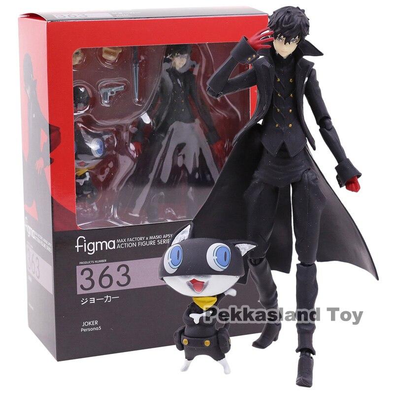 Persona 5 Figma 363 Shujinkou et Morgana Joker Ver. PVC Action Figure Collection Modèle Jouet