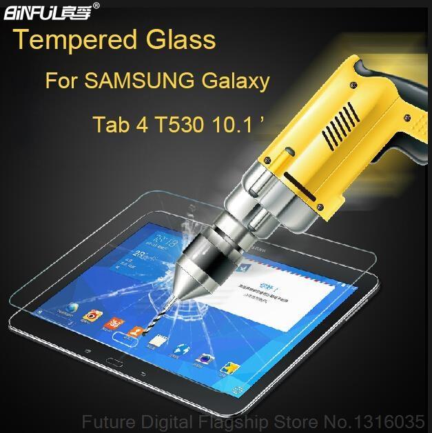 BINFUL Premium 9H 0.3mm edzett üveg a Samsung Galaxy Tabhoz 4 10.1 - Tablet kiegészítők