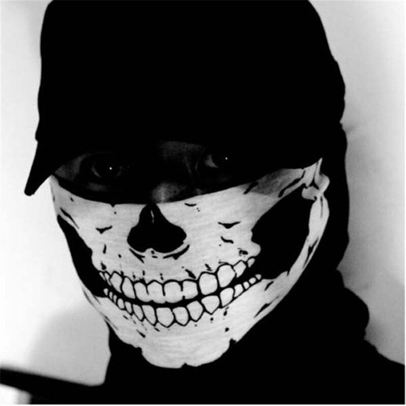 Цикл Zone 2017 Новое поступление высокое качество Прохладный Череп Дизайн взрослых multi Функция Лыжный спорт Мотоцикл Байкер Шарф половина Уход за кожей лица маска