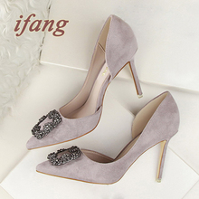 ifang Women Rhinestone Wedding Shoes 2016 Bridal Heels Party High Heel Shoes Woman Women Heels Pumps Noble Women's Shoes