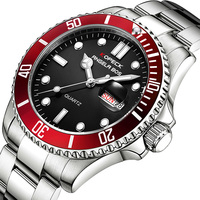 Kopeck Luminous Calendar Men Quartz Watches Water Ghost Diving Male Clock Men's Stainless Steel Wristwatch Relogio Masculino