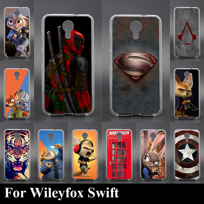 Case For Wileyfox Swift Colorful Printing Drawing Transparent Plastic Mobile Phone Cover Soft tpu Phone Cases
