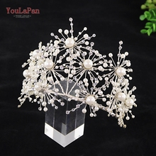YouLaPan HP244 Radioactive wedding crown Luxury crystal bridal hair vine headband rhinestone accessories handmade