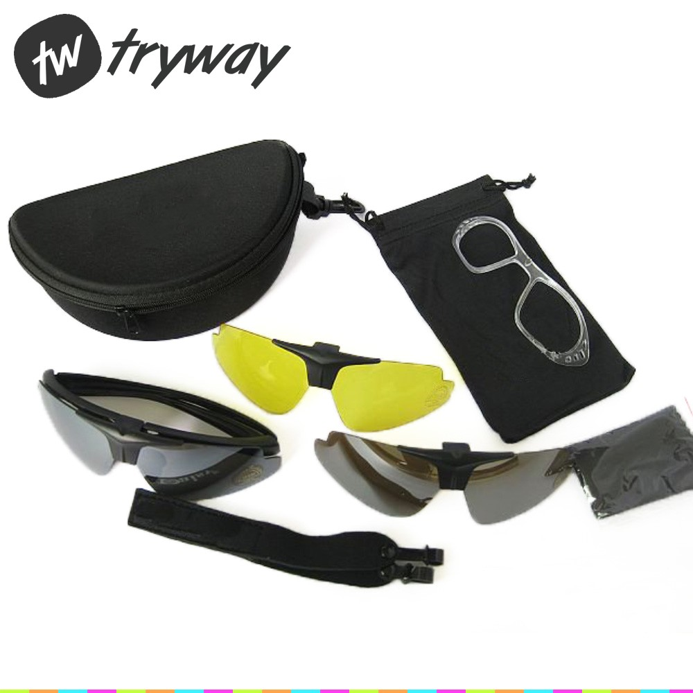 e78e7459f16 Detail Feedback Questions about Tryway Tactical Goggles UV400 Protections Daisy  C1 Airsoft shooting Motorcycle Sunglasses Sports bike glasses motor men ...