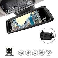 ANSTAR 4 г 10 ips видеорегистратор автомобильный 1080 P Двойной объектив Видеорегистраторы для автомобилей Камера Авто Bluetooth FM Зеркало заднего вида