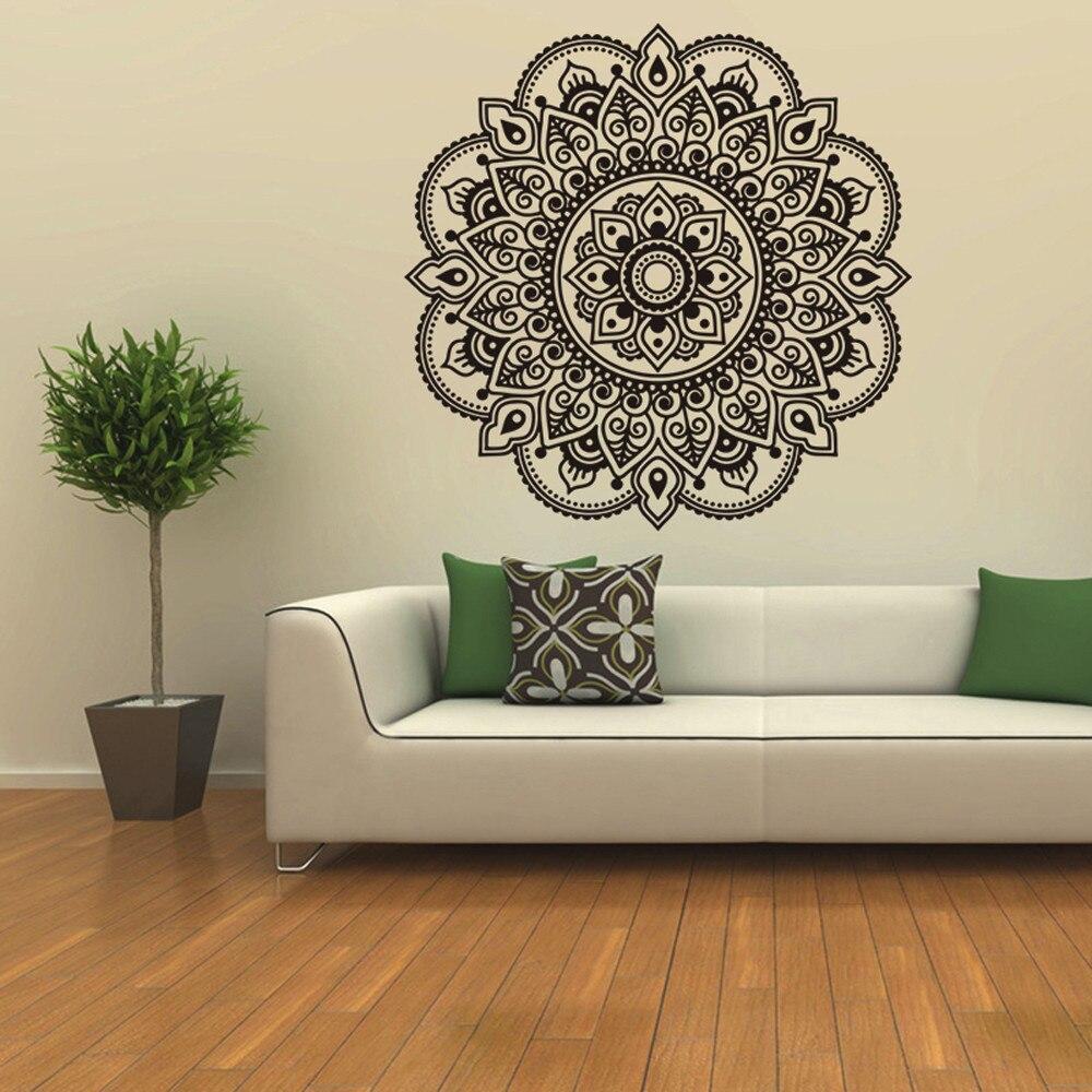 Wallpaper Designs For Bedroom Indian: Mandala Flower Indian Wall Stickers Bedroom Living Room